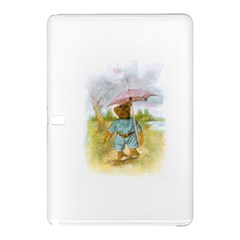 Vintage Drawing: Teddy Bear In The Rain Samsung Galaxy Tab Pro 12 2 Hardshell Case by MotherGoose