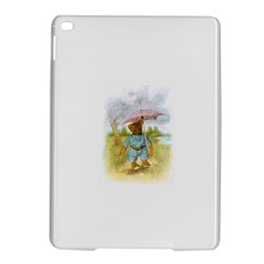 Vintage Drawing: Teddy Bear In The Rain Apple Ipad Air 2 Hardshell Case by MotherGoose