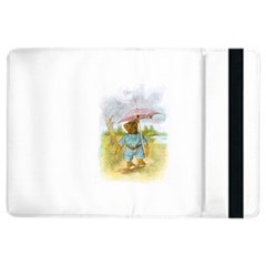 Vintage Drawing: Teddy Bear In The Rain Apple Ipad Air 2 Flip Case by MotherGoose