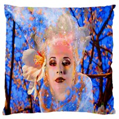 Magic Flower Large Cushion Case (single Sided)  by icarusismartdesigns