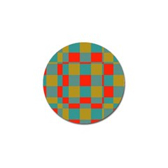 Squares In Retro Colors Golf Ball Marker (10 Pack) by LalyLauraFLM