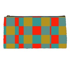 Squares In Retro Colors Pencil Case by LalyLauraFLM