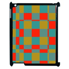 Squares In Retro Colors Apple Ipad 2 Case (black) by LalyLauraFLM