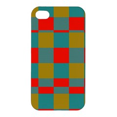 Squares In Retro Colors Apple Iphone 4/4s Hardshell Case by LalyLauraFLM