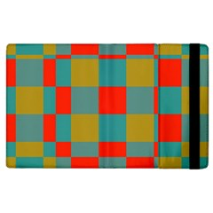 Squares In Retro Colors Apple Ipad 3/4 Flip Case by LalyLauraFLM