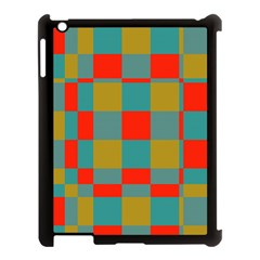 Squares In Retro Colors Apple Ipad 3/4 Case (black) by LalyLauraFLM