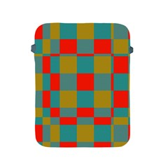 Squares In Retro Colors Apple Ipad 2/3/4 Protective Soft Case by LalyLauraFLM