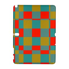 Squares In Retro Colors Samsung Galaxy Note 10 1 (p600) Hardshell Case by LalyLauraFLM