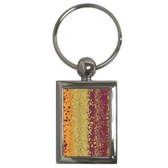 Scattered Pieces Key Chain (rectangle) by LalyLauraFLM