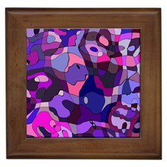 Blue Purple Chaos Framed Tile by LalyLauraFLM
