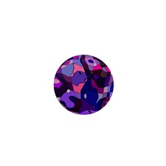 Blue Purple Chaos 1  Mini Magnet by LalyLauraFLM