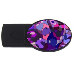 Blue Purple Chaos Usb Flash Drive Oval (2 Gb) by LalyLauraFLM