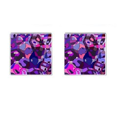 Blue Purple Chaos Cufflinks (square) by LalyLauraFLM