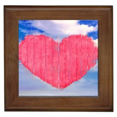 Pop Art Style Love Concept Framed Ceramic Tile