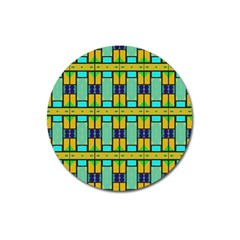 Different Shapes Pattern Magnet 3  (round) by LalyLauraFLM