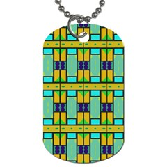 Different Shapes Pattern Dog Tag (two Sides) by LalyLauraFLM