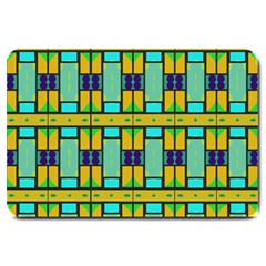 Different Shapes Pattern Large Doormat by LalyLauraFLM