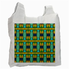 Different Shapes Pattern Recycle Bag (two Side) by LalyLauraFLM