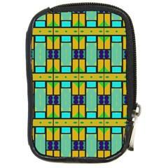 Different Shapes Pattern Compact Camera Leather Case by LalyLauraFLM