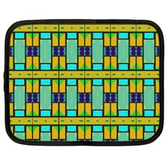 Different Shapes Pattern Netbook Case (xl)
