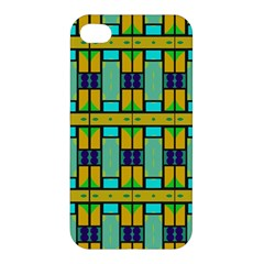 Different Shapes Pattern Apple Iphone 4/4s Hardshell Case by LalyLauraFLM