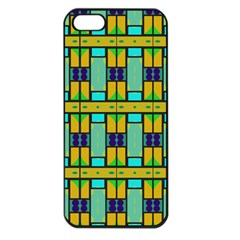 Different Shapes Pattern Apple Iphone 5 Seamless Case (black) by LalyLauraFLM