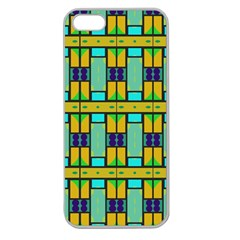 Different Shapes Pattern Apple Seamless Iphone 5 Case (clear) by LalyLauraFLM