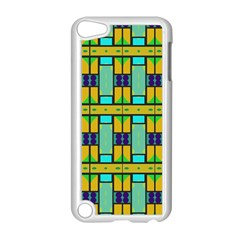 Different Shapes Pattern Apple Ipod Touch 5 Case (white) by LalyLauraFLM