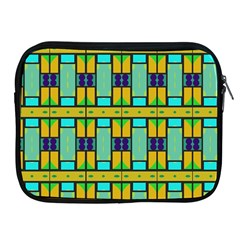 Different Shapes Pattern Apple Ipad 2/3/4 Zipper Case by LalyLauraFLM