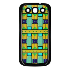 Different Shapes Pattern Samsung Galaxy S3 Back Case (black) by LalyLauraFLM