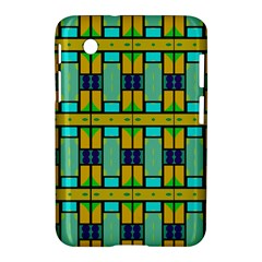Different Shapes Pattern Samsung Galaxy Tab 2 (7 ) P3100 Hardshell Case  by LalyLauraFLM