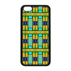 Different Shapes Pattern Apple Iphone 5c Seamless Case (black) by LalyLauraFLM