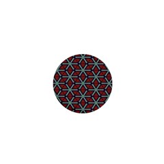 Cubes Pattern Abstract Design 1  Mini Button by LalyLauraFLM