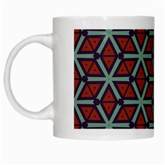 Cubes Pattern Abstract Design White Mug by LalyLauraFLM