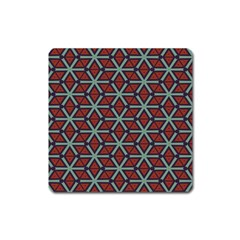 Cubes Pattern Abstract Design Magnet (square) by LalyLauraFLM