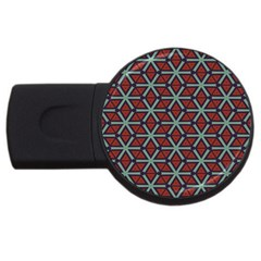 Cubes Pattern Abstract Design Usb Flash Drive Round (2 Gb) by LalyLauraFLM