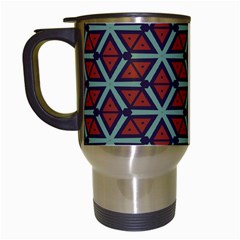 Cubes Pattern Abstract Design Travel Mug (white) by LalyLauraFLM