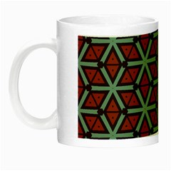 Cubes Pattern Abstract Design Night Luminous Mug by LalyLauraFLM