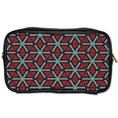 Cubes Pattern Abstract Design Toiletries Bag (two Sides) by LalyLauraFLM
