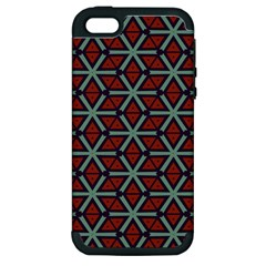 Cubes Pattern Abstract Design Apple Iphone 5 Hardshell Case (pc+silicone) by LalyLauraFLM