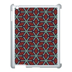 Cubes Pattern Abstract Design Apple Ipad 3/4 Case (white) by LalyLauraFLM