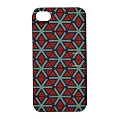 Cubes Pattern Abstract Design Apple Iphone 4/4s Hardshell Case With Stand by LalyLauraFLM