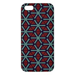 Cubes Pattern Abstract Design Apple Iphone 5 Premium Hardshell Case by LalyLauraFLM