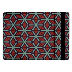Cubes Pattern Abstract Design Samsung Galaxy Tab Pro 12 2  Flip Case by LalyLauraFLM