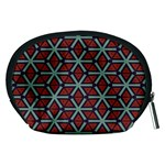 Cubes pattern abstract design Accessory Pouch (Medium) Back