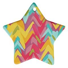 Paint Strokes Abstract Design Ornament (star) by LalyLauraFLM