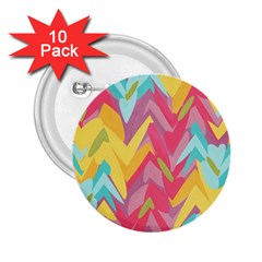 Paint Strokes Abstract Design 2 25  Button (10 Pack) by LalyLauraFLM