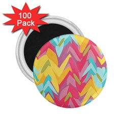 Paint Strokes Abstract Design 2 25  Magnet (100 Pack)  by LalyLauraFLM
