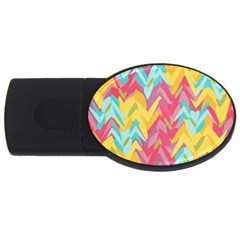 Paint Strokes Abstract Design Usb Flash Drive Oval (2 Gb) by LalyLauraFLM
