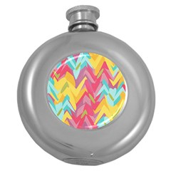 Paint Strokes Abstract Design Hip Flask (5 Oz) by LalyLauraFLM